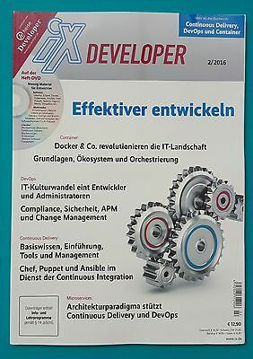 iX Developer 2/2016 mit Heft-DVD    ungelesen abs.TOP
