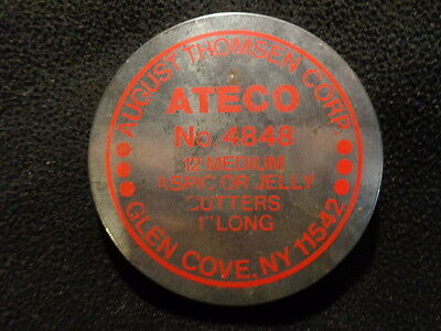 Vintage ATECO August Thomsen 12 Tiny Aspic or Jelly Cookie Cutters Tin