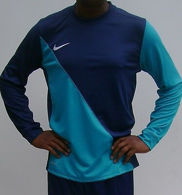 Nike Men's Football Shirt Navy  Blue & Turquoise Blue (small & large)
