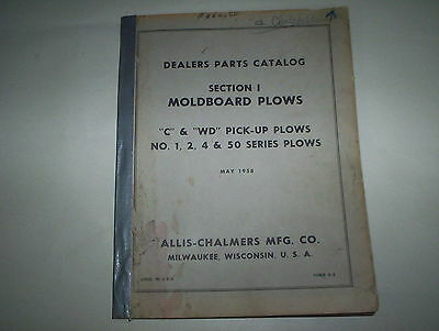 Vintage Allis Chalmers Moldboard Plows Parts Catalog Printed 1958 Form D-5