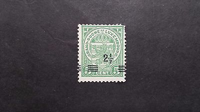 LUXEMBOURG 1918 Sc#112 Coat of Arms 5c surcharged= 2 1/2 Unused H NG Fair (C-89)