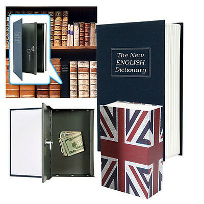 Secret Dictionary Book Style Safe Security Cash Money Hide Storage Box New
