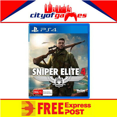 Sniper Elite 4 PS4 New & Sealed Free Express Post In Stock