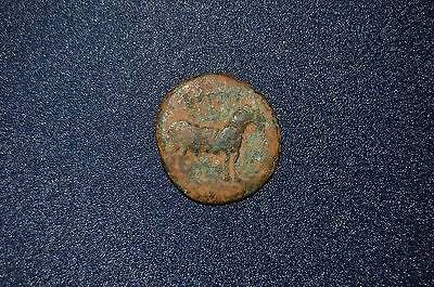 Ancient Byzantine Roman  565AD Bronze coin Horse 20mm