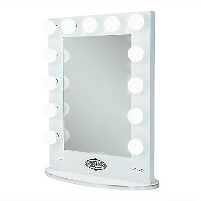 Vanity Girl Broadway Lighted Vanity Mirror with 2 Outlets and Dimmer Switch