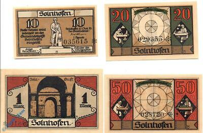 4 x Notgeld Solnhofen , M/G 1236.1 , 4 x german emergency Money , kfr./unc