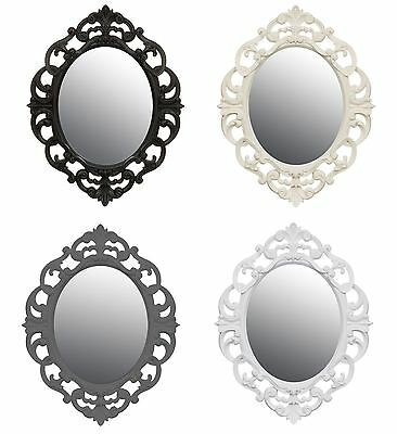 New Vintage Style Shabby Chic Oval Ornate Mirror Home Decor 40 x 30cm