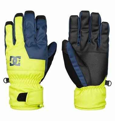 Guanti Uomo DC Shoes Seger Giallo Fluo Navy Blue Gloves Snowboard Sci Neve