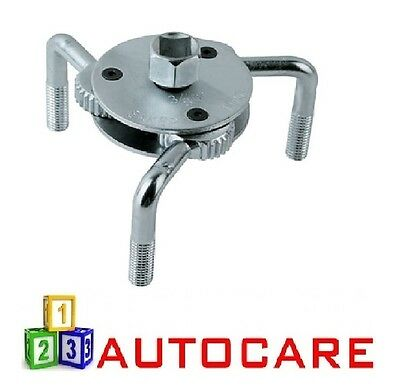 3 Long Grip Leg 2 Way Oil Fuel Filter Remover Wrench 65-130mm Range