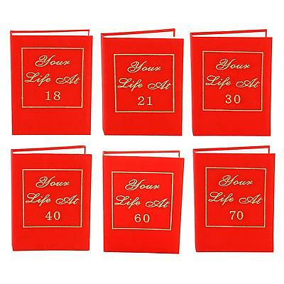 "Red Book Photo Album ""Your Life At"" Birthday Gift - 18th to 70th"