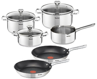 Tefal Cookware Set Duetto + Frying Pans Duetto 24 Cm And 28 Cm Pots Pan 9 Pcs