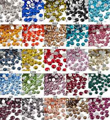 1440pcs SS3-SS20 Crystal Rhinestones Nail Art Decoration Flatback Non Hotfix