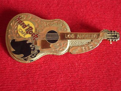HRC Hard Rock Cafe Los Angeles Gold Buddy Holly Acoustic Guitar