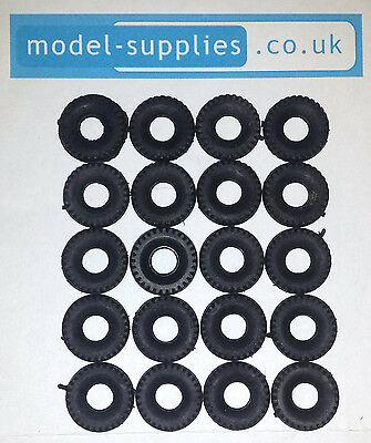 Dinky 15mm Chunky Black Treaded Reproduction Tyres fits Post 1960 Dinky Cars etc
