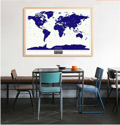 Hot Travel Explore Life Double Copper Paper Starlight Luminous Scratch World Map