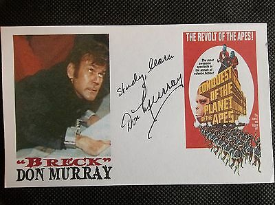 """""""Conquest Of The Planet Of The Apes"""" Don Murray BRECK Autographed 3x5 Index Card"""