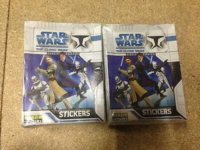 2 Boxes of Star Wars The Clone Wars Stickers 100 Packs Party Bag Filler