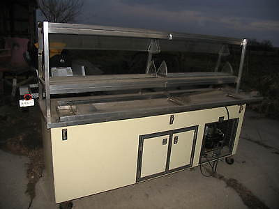 Shelleyglas Salad Bar/ Buffet Table Nice Used Unit   Cafeteria