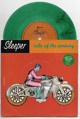 """SLEEPER - SALE OF THE CENTURY 7"""" 45 RARE GREEN VINYL UK Limited Edition Numbered"""