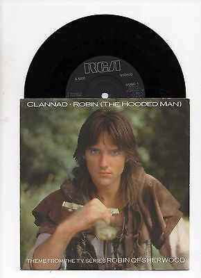 "CLANNAD - ROBIN THE HOODED MAN 7"" 45 EX VINYL Robin of Sherwood TV Series Theme"