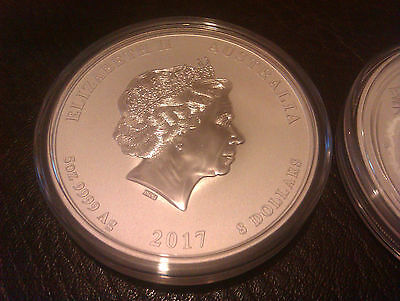 2017 5oz silver lunar year of the Rooster coin. Series 2.