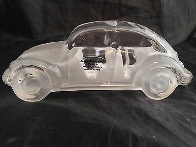 Hofbauer Lead Crystal Glass Vw Beetle Car Paperweight - Vgc + Label