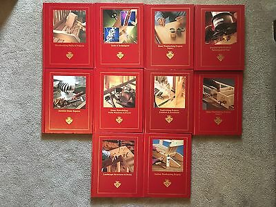 Lot of 10 Handyman Club of America Books Woodworking