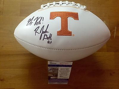 Joshua Dobbs Signed Tennessee Volunteers Football Go Vols! JSA Coa