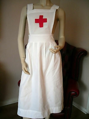 "Ww1 Ww2  Adult Nurse Apron ""red Cross Inspired"" - Re-Enacting War Time- Cotton"