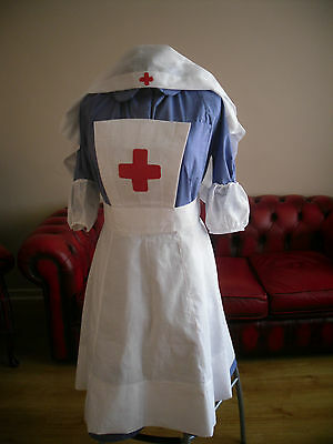 Ww2 Nurse Uniform Reproduction Costume Vad Nurse 100% Cotton  Order Custom Made