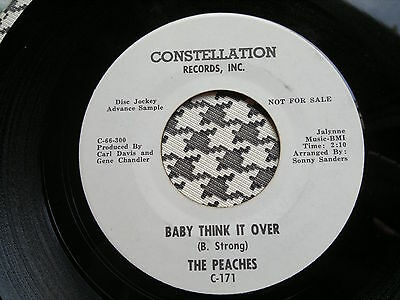 """THE PEACHES - Baby Think It Over   - CONSTELLATION 45s""""    NORTHERN SOUL"""