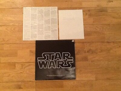 Star Wars 1st Pressing With Misprint Insert UK double LP 1977 + Misprint Notice