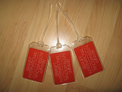 Braniff Airlines Luggage Luggage Tags - Red Airplane Playing Cards Vintage Set 3