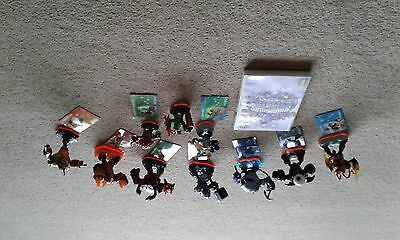 skylander Giants game 10 figures and bag