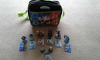 skylanders -7 swap force figures and bag for wii