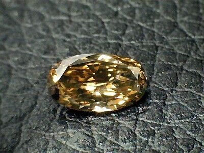 0.55 CT Oval Brown Fancy Loose Diamond!  GIA