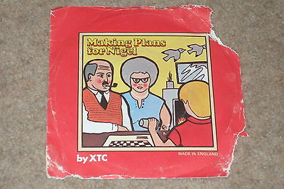 """XTC – Making Plans For Nigel 7""""      1979     PUNK /  NEW WAVE"""