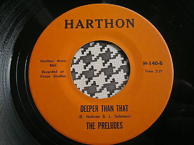"""THE PRELUDES - Deeper Than That / Shiggy Diggy - HARTHON 45s""""   NORTHERN SOUL"""