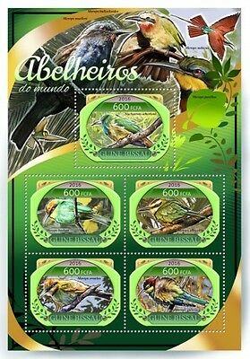 Z08 IMPERFORATED GB16807a GUINEA-BISSAU 2016 Bee-eaters MNH