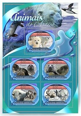 Z08 IMPERFORATED GB16808a GUINEA-BISSAU 2016 Arctic animals MNH