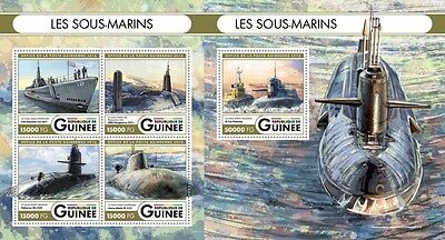 Z08 IMPERFORATED GU16515ab GUINEA Rep. (Guinee) 2016 Submarines MNH Set