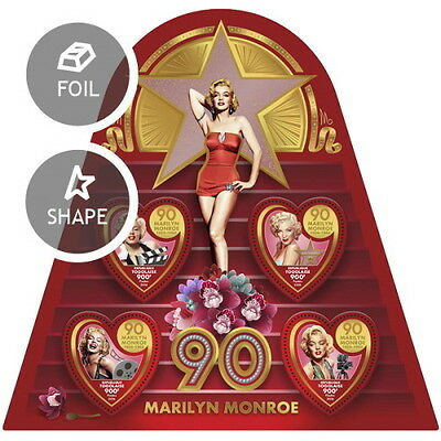 Z08 IMPERFORATED TG16511a TOGO 2016 Marilyn Monroe MNH