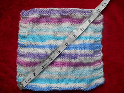 Mini Hand knitted  Hand-knitted 8 x 8in. Blanket-Rug for playhouse dolls