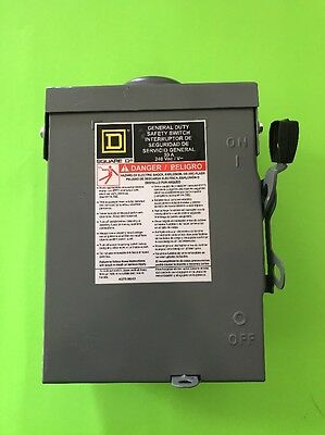 BRAND NEW Square D D221NRB General Duty Fusible Safety Switch 30 Amp 240 Volt