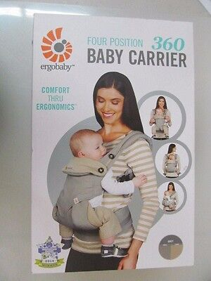 Ergobaby Four Position 360 Baby Carrier Comfort Thru Ergonomics Grey/Taupe NEW!!
