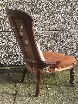 Antique Mahogany Button Back  Nursing Chair Circa 1890 - For Re upholstery