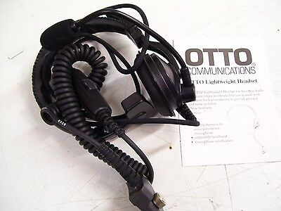 1- New Otto Headset (Single) L,weight W/ Boom Mic V4-10344 For The Mrk Radio
