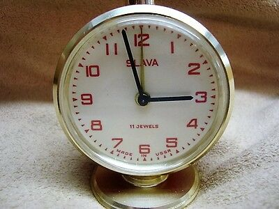 Vintage SLAVA Alarm Clock - Made in Former USSR