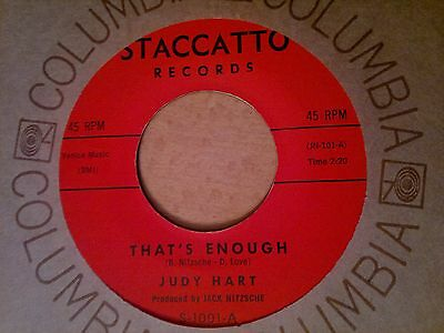 """JUDY HART - That's Enough - STACCATTO  45s""""  R&B  Northern Soul"""