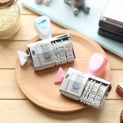 Stationery Words And Date Stamp Roller Stamps Rubber Wheel DIY Album Tools